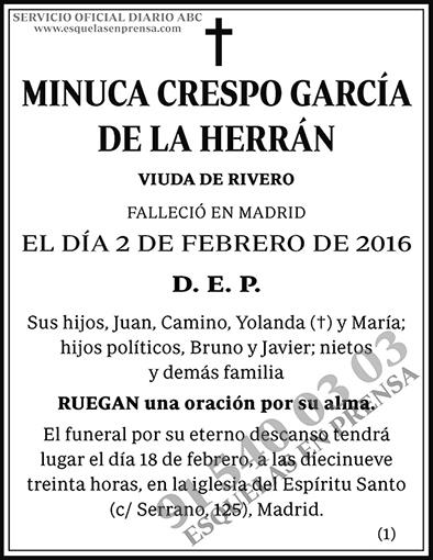 Minuca Crespo García de la Herrán